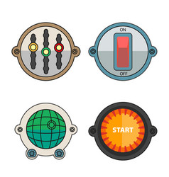 colorful buttons for different purposes vector image vector image