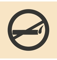 Flat in black and white mobile application smoking vector image vector image