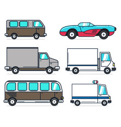 set of cartoon car on white background best for vector image vector image