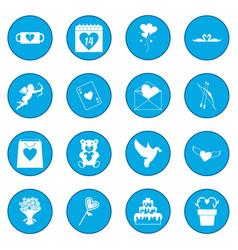 valentines icon blue vector image vector image