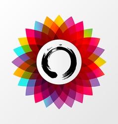 Zen lotus flower concept vector image