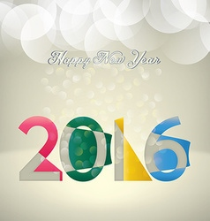 2016 composition vector image