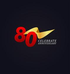 80 years anniversary celebration elegant gold vector