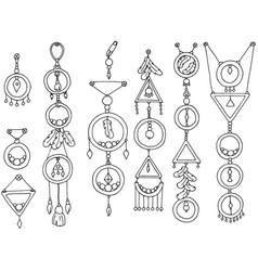 A set of magic items vector