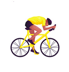 a swarthy man in yellow sportswear on a yellow vector image