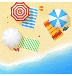 Aerial view sea sand beach vector