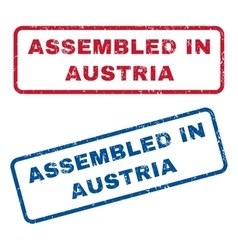Assembled In Austria Rubber Stamps vector