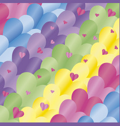 background hearts colored vector image
