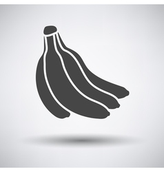 Banana icon on gray background vector