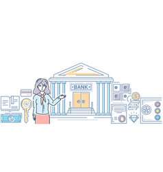 banking industry - modern line design style vector image