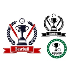 Baseball badges or emblems vector image
