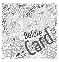 Before You Go For Credit Card Debt Help Word Cloud vector image