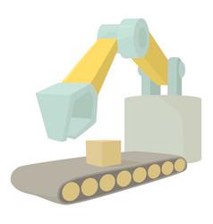 Big excavator icon cartoon style vector