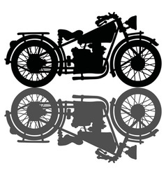 Black vintage motorcycle vector