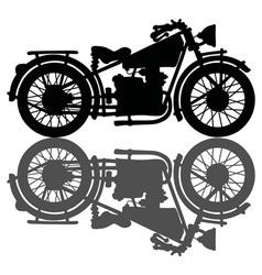 Black vintage motorcycle vector