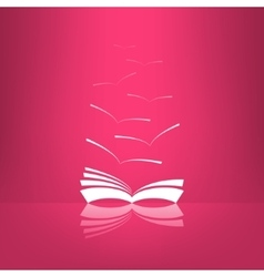 Book icon with seagulls made in glassy vector