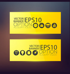 business abstract horizontal banners vector image