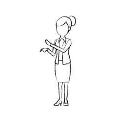 Business woman people staff office work vector