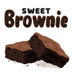 Chocolate brownies vector