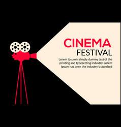 cinema movie poster design film camera vector image