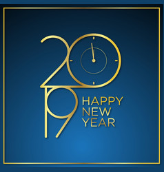 classy time new year background vector image