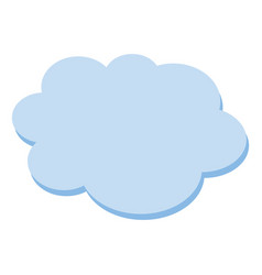 cloud flat blue simple icon symbol on white vector image