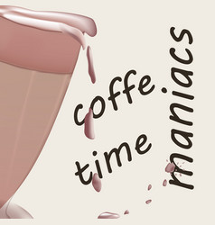 coffee background design for banners vector image
