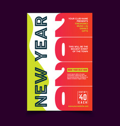 colorful new year poster template vector image