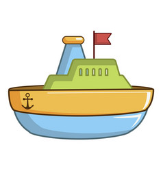 colorful toy ship icon cartoon style vector image