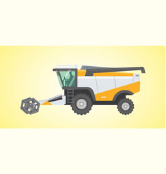 Combine harvester isolated vector