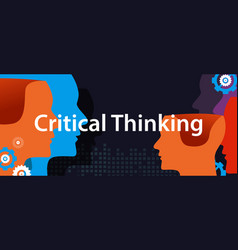 Critical thinking concept of creative solution vector