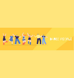 dance people club party festival banner flat style vector image