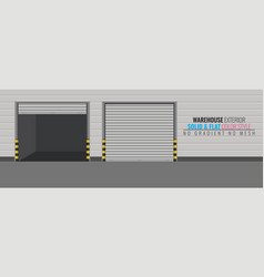 Delivery warehouse or storage building exterior vector