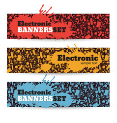 Electronic banners set vector