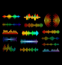 Equalizer sound waves frequency vector