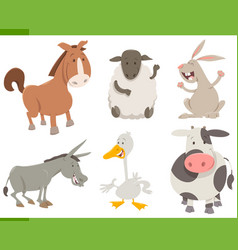 farm animal characters collection vector image