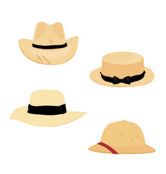 farmers gardening hats vector image