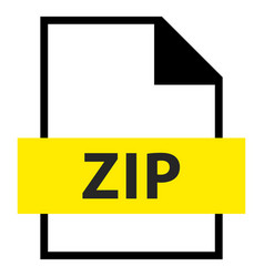 file name extension zip type vector image