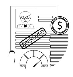 finance approve credit apply vector image