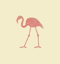 Flat design flamingo icon vector
