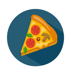 Flat style pizza icon vector