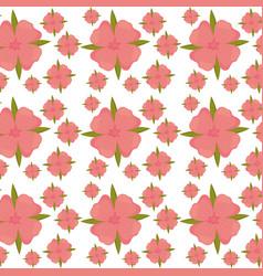 Flower leaves seamless pattern design vector