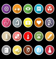 General hospital icons with long shadow vector image
