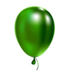 Green helium balloon birthday baloon flying vector