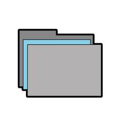 Grey and blue folder cartoon vector