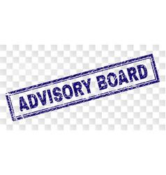 Grunge advisory board rectangle stamp vector