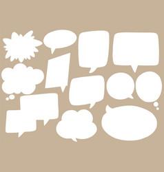 Hand drawn background set cute speech bubbles vector