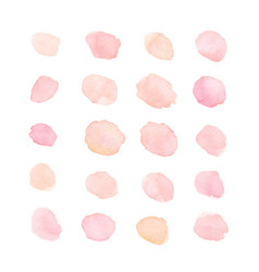 Hand painted soft pink and peach watercolor dots vector