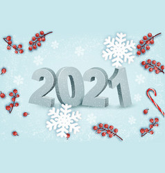 happy new year background with a 2021 and vector image