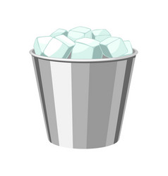 ice bucket for cooling bottles vector image